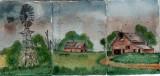 grandpas barn triptych  4-08