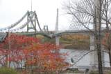 The old & new Penobscot River bridges near Bucksport