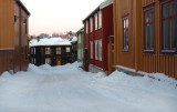 Typical street of Røros