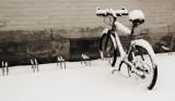 Bike with snow