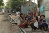 Kids by the railtracks-Phnom Penh