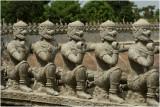 Monkey balustrade-Phnom Baset