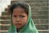 Girl with green shawl-Phnom Baset