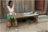 Mother and sleeping child-Phnom Penh