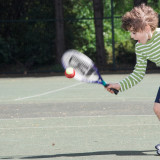 Louis' First Tennis Lesson
