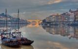 Barcos rabelos, Douro, Ribeira e Ponte da Arrábida