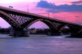 Peace Bridge Sunset Other Side
