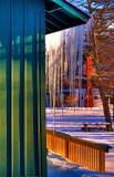 Hamlin Park  Pavilion Icicles