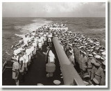 Stoker Phillips funeral at sea, HMCS UGANDA