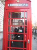Ceres in a red phone booth