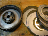 1004 New clutch plates (Barnett), bead blasted steel plates, new clutch hub center.