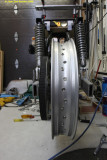 2254 Rear wheel and pulley in place
