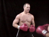 Photos from Private Gay Boxing Gym showing Hairychest Big Men fighting Father versus Son Matches
