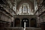 renovation of catholic church in Zolkiv