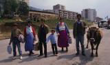 Refugee family