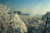 Rime on the Blue Ridge Mountains
