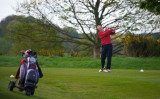 Martin follows the ball flight down the 18th !      68.jpg