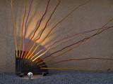 Stick art before sunrise