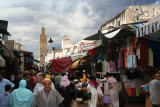 Since it was late in the afternoon, there was lots of traffic in this medina market in Rabat.
