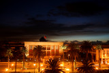 At the end of the day, I took this photo of the Rabat City Hall at night from my hotel window.