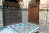 In the Muslim religion, it is forbidden for faces to be depicted in mosaics, only geometric designs are permitted.