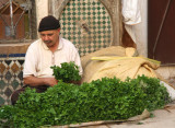 I saw this mint vendor at one of the souks in Fès.