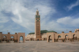 Hassan II Mosque in Casablanca is the largest in Morocco and second largest in the world, after the Masjid al-Haram in Mecca.