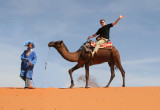 My desert guide and me at Erg Chebbi.  I worried because it was Ramadan, so he was not allowed to drink water on the trek!