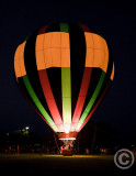 Hot Air Ballons at Night
