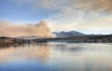 Smoke by Lake Mission Viejo