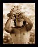 Conch Blower (Sepia)