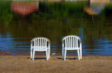 Two Chairs On A Beach 49741