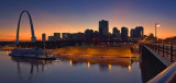Saint Louis Sunset Panorama 70511-2