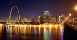Saint Louis Night Skyline 20071029