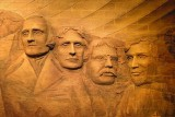 Mount Rushmore Brick Mural 70770