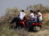 15247 - Some safety demonstration... | Enduro race #6/2008 / Palmachim - Israel