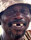 Friendly old man in Benin.
