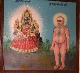 Wall painting at Punnai Nallur Mariamman temple near Thanjavur, Tamil Nadu. http://www.blurb.com/books/3782738