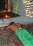 Priest in a Mariamman temple near Mamallapuram, Tamil Nadu. http://www.blurb.com/books/3782738