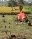 Reclining clay goddess near Salem, Tamil Nadu. http://www.blurb.com/books/3782738