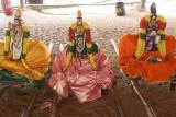 Gods from Sri Ranganatha temple in Srirangam, Tamil Nadu.