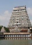 Temple gopuram in Chidambaram,Tamil Nadu.