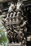 Detail from a temple chariot in Chidambaram, Tamil Nadu.