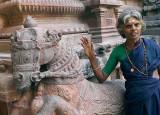 At Brihadisvara temple in Tanjore, Tamil Nadu.