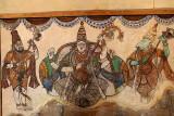 Fresco at Brihadisvara temple in Tanjore, Tamil Nadu.