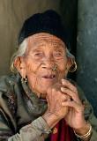 Old lady in Ghale Gaun, Nepal.