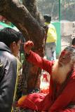 Saddhu at Dakshinkali temple, Nepal.