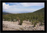 Looking back from the Bristlecone Pine Grove