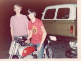 Doyles racing motorcycle and friend Jay Reynolds.jpg