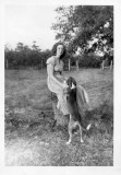 Grace Linch and puppy 1949.jpg